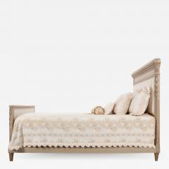 French 19th Century Louis XVI Style Queen Painted Bed - 2083881