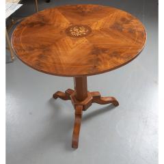 French 19th Century Mahogany Inlay Tea Table - 1917269