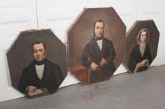 French 19th Century Oil Portrait Paintings - 1409784