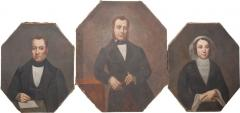 French 19th Century Oil Portrait Paintings - 1409965
