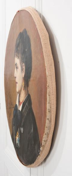 French 19th Century Oil Profile Portrait - 582871