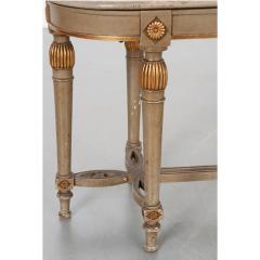 French 19th Century Painted Cane Bench - 2057196