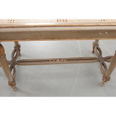 French 19th Century Painted Cane Bench - 2057201