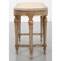 French 19th Century Painted Cane Bench - 2057230