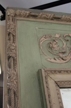 French 19th Century Painted Trumeau Mirror - 1837743