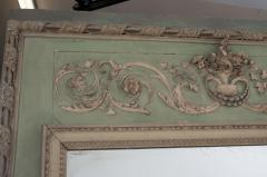 French 19th Century Painted Trumeau Mirror - 1837744