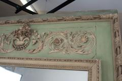 French 19th Century Painted Trumeau Mirror - 1837755