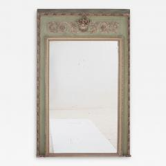 French 19th Century Painted Trumeau Mirror - 1845611