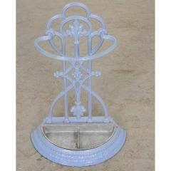 French 19th Century Painted Wrought Iron Umbrella Stand - 1794806