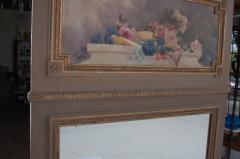 French 19th Century Painted and Gilded Trumeau - 1837775
