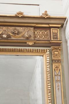 French 19th Century Painted and Parcel Gilt Pier Mirror - 1395056