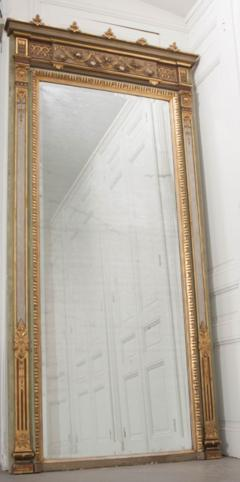 French 19th Century Painted and Parcel Gilt Pier Mirror - 1395057
