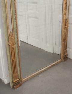 French 19th Century Painted and Parcel Gilt Pier Mirror - 1395065