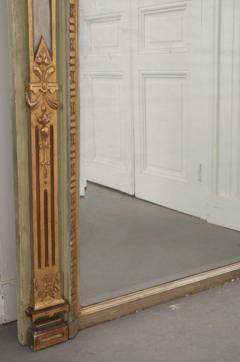 French 19th Century Painted and Parcel Gilt Pier Mirror - 1395069