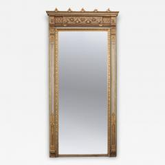 French 19th Century Painted and Parcel Gilt Pier Mirror - 1395411