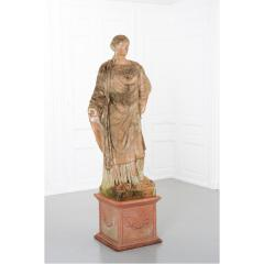 French 19th Century Terracotta Statue on Pedestal - 1924390