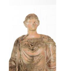 French 19th Century Terracotta Statue on Pedestal - 1924395