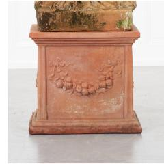 French 19th Century Terracotta Statue on Pedestal - 1924404