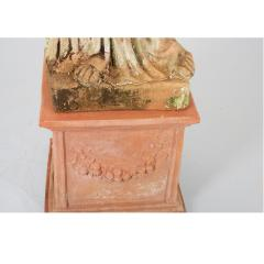 French 19th Century Terracotta Statue on Pedestal - 1924405