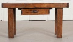 French 19th Century Walnut Workbench Coffee Table - 1409728