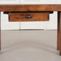 French 19th Century Walnut Workbench Coffee Table - 1409729