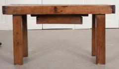French 19th Century Walnut Workbench Coffee Table - 1409734