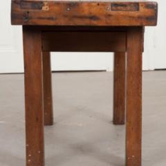 French 19th Century Walnut Workbench Coffee Table - 1409735
