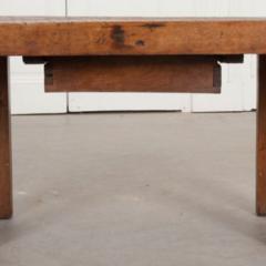 French 19th Century Walnut Workbench Coffee Table - 1409736