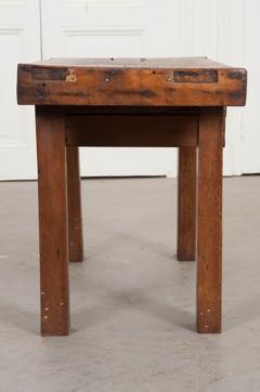 French 19th Century Walnut Workbench Coffee Table - 1409737