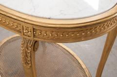 French 19th Louis XVI Style Oval Giltwood Occasional Table - 1075247