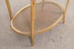 French 19th Louis XVI Style Oval Giltwood Occasional Table - 1075248