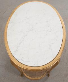 French 19th Louis XVI Style Oval Giltwood Occasional Table - 1075249