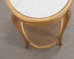 French 19th Louis XVI Style Oval Giltwood Occasional Table - 1075250