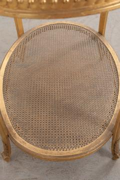 French 19th Louis XVI Style Oval Giltwood Occasional Table - 1075252