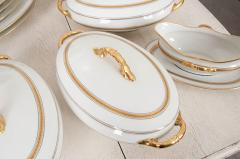 French 20th Century 93 Piece Limoges Luncheon Service - 1812111