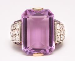 French Amethyst Diamond Ring - 181722