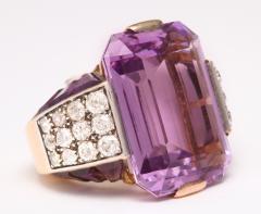 French Amethyst Diamond Ring - 181723