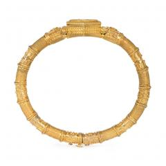 French Antique Gold Etruscan Revival Bangle Bracelet - 1162281
