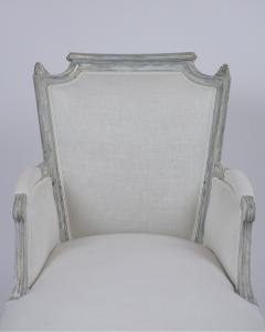 French Antique Louis XVI Painted Chaise Lounge - 1370833