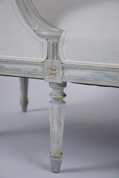 French Antique Louis XVI Painted Chaise Lounge - 1370834