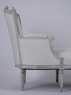 French Antique Louis XVI Painted Chaise Lounge - 1370835