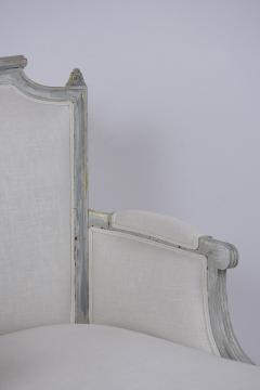 French Antique Louis XVI Painted Chaise Lounge - 1370837