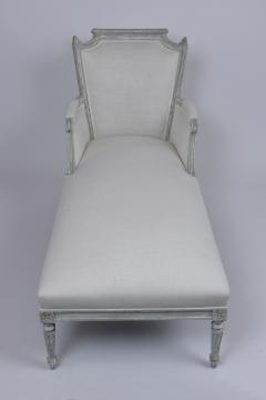 French Antique Louis XVI Painted Chaise Lounge - 1370839
