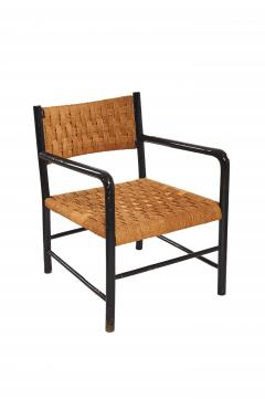 French Arm Chairs with Woven Seat Back Sold as Pair  - 401063