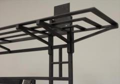 French Art Deco 1930s wall stand hat rack with shelves - 774835
