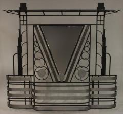 French Art Deco 1930s wall stand hat rack with shelves - 774837