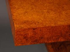 French Art Deco Amboyna Wood Table - 735190