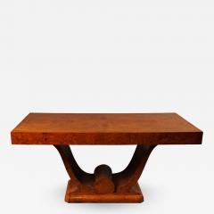 French Art Deco Amboyna Wood Table - 735394
