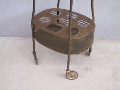 French Art Deco Brass Bar Cart - 1511573