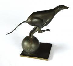 French Art Deco Bronze Greyhound Sculpture - 1828728